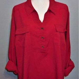 3X Red Maggie Barnes Top